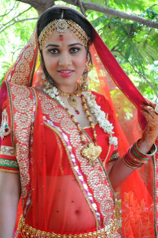 Nisha Kothari Hot Red Saree Photo Shoot | Nisha Kothari