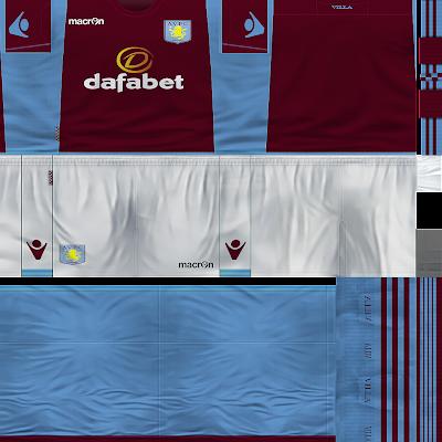 Uni Kit Aston Villa 2013/2014 by McN - PES 6