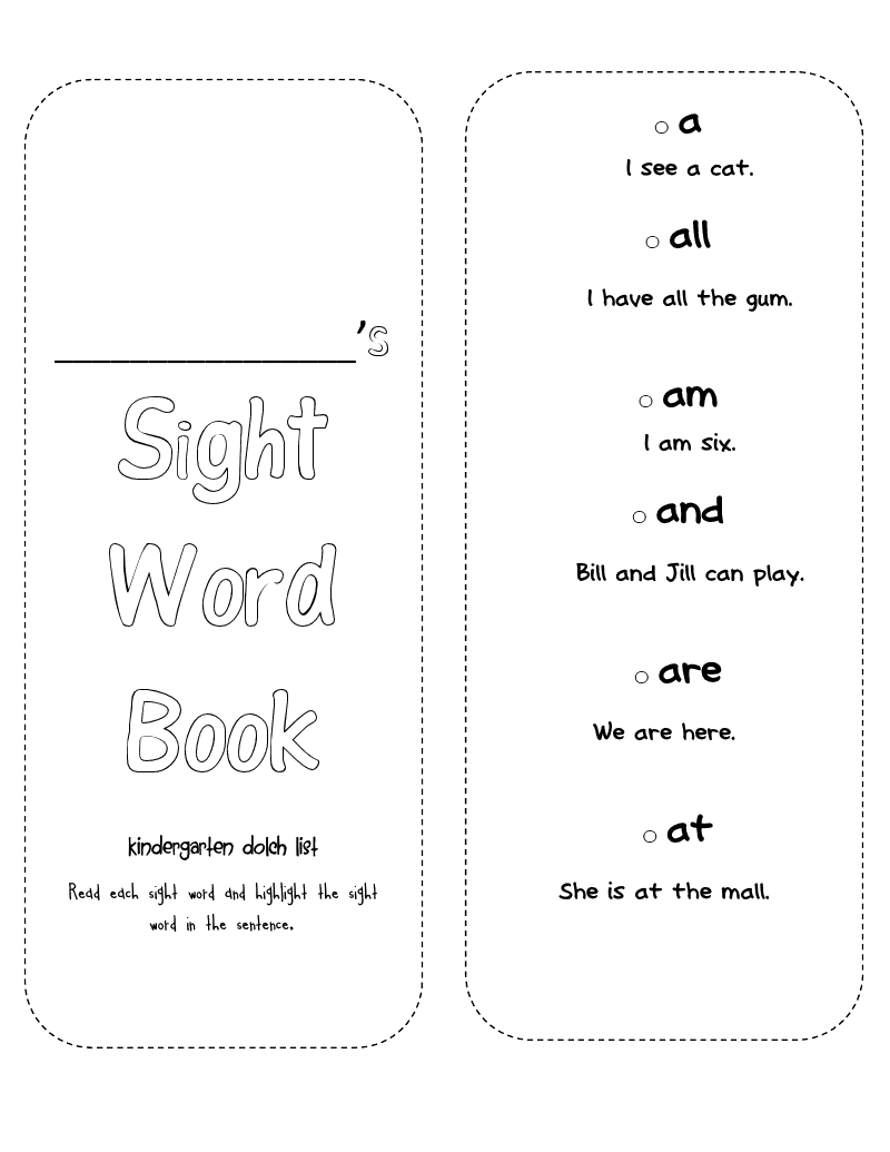 Worksheet Sight Word Booklets Kindergarten lovely literacy more october 2012 there is also kindergarten student sight word booklet