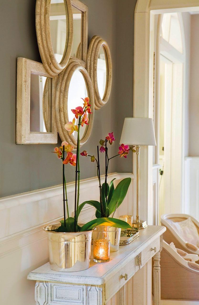 Muebles recibidor pasillos y escaleras decoraci n de - Espejos para pasillos ...