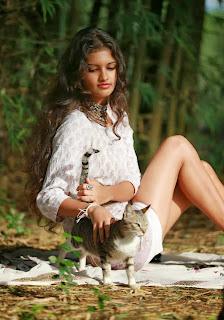 Rudrani Dias with pussy cat