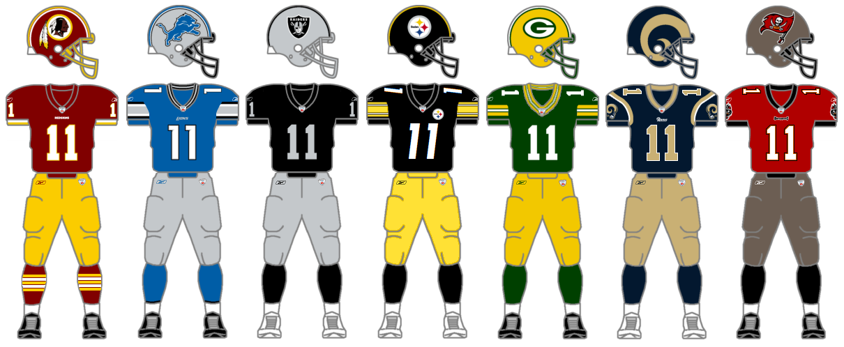The Gridiron Uniform Database Monochrome Whites Part 2