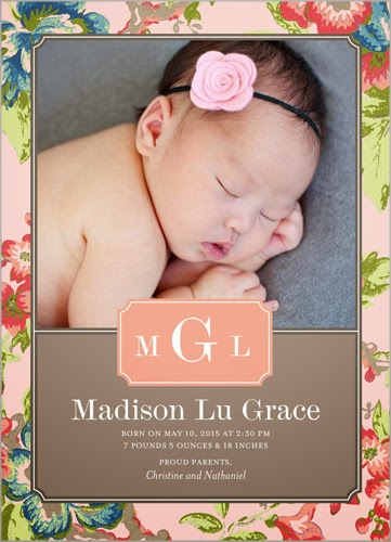 shutterfly vintage baby announcement card