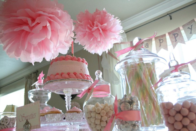 Chic dreams sweet girl birthday party inspiration for 1st birthday girl decoration