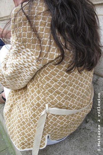 Veste Sessun Lalin kimono coton beige
