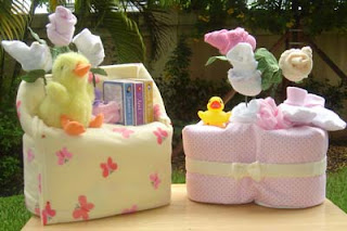 Diaper Cakes and Baby Shower gifts: Baby Shower Decorations