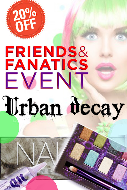 Urban Decay's Friends and Fanatic Sale, 20% Off Urban Decay website purchase, by Barbie's Beauty Bits