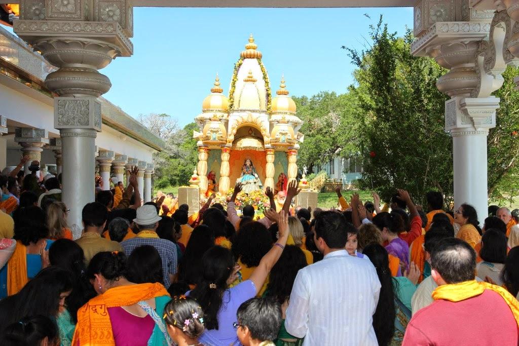 Radha Rani Rath Yatra 2014 at Radha Madhav Dham America
