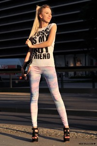 Music is my Boyfriend house t-shirt river island leggins