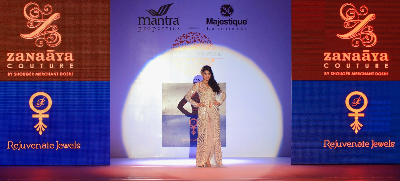 Shriya Saran walks the ramp at Pune Fashion Week