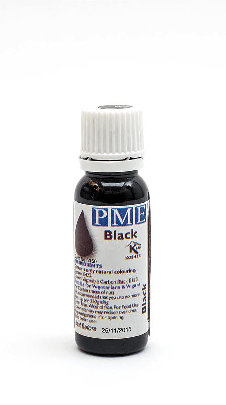 PME natural food color black front shot