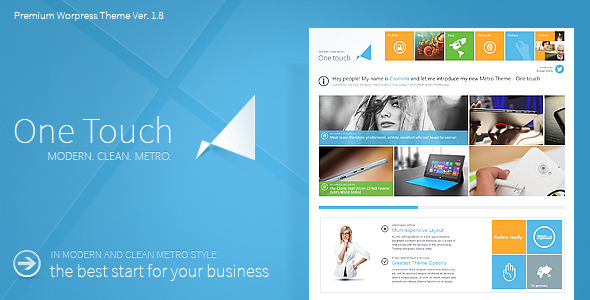 One Touch - Multifunctional Metro Stylish Theme