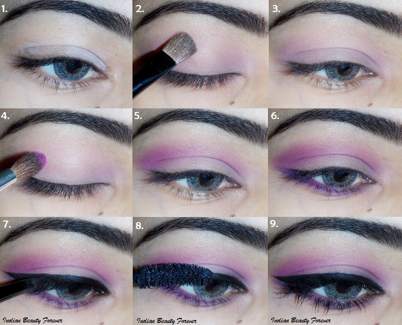 Soft Pink Smokey Step By Step Eye Makeup Tutorial Indian Beauty