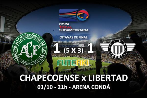 Veja o resumo da partida com os gols e os melhores momentos de Chapecoense 1 (5x3)1 Libertad pelas oitavas de final da Copa Sul-Americana 2015.