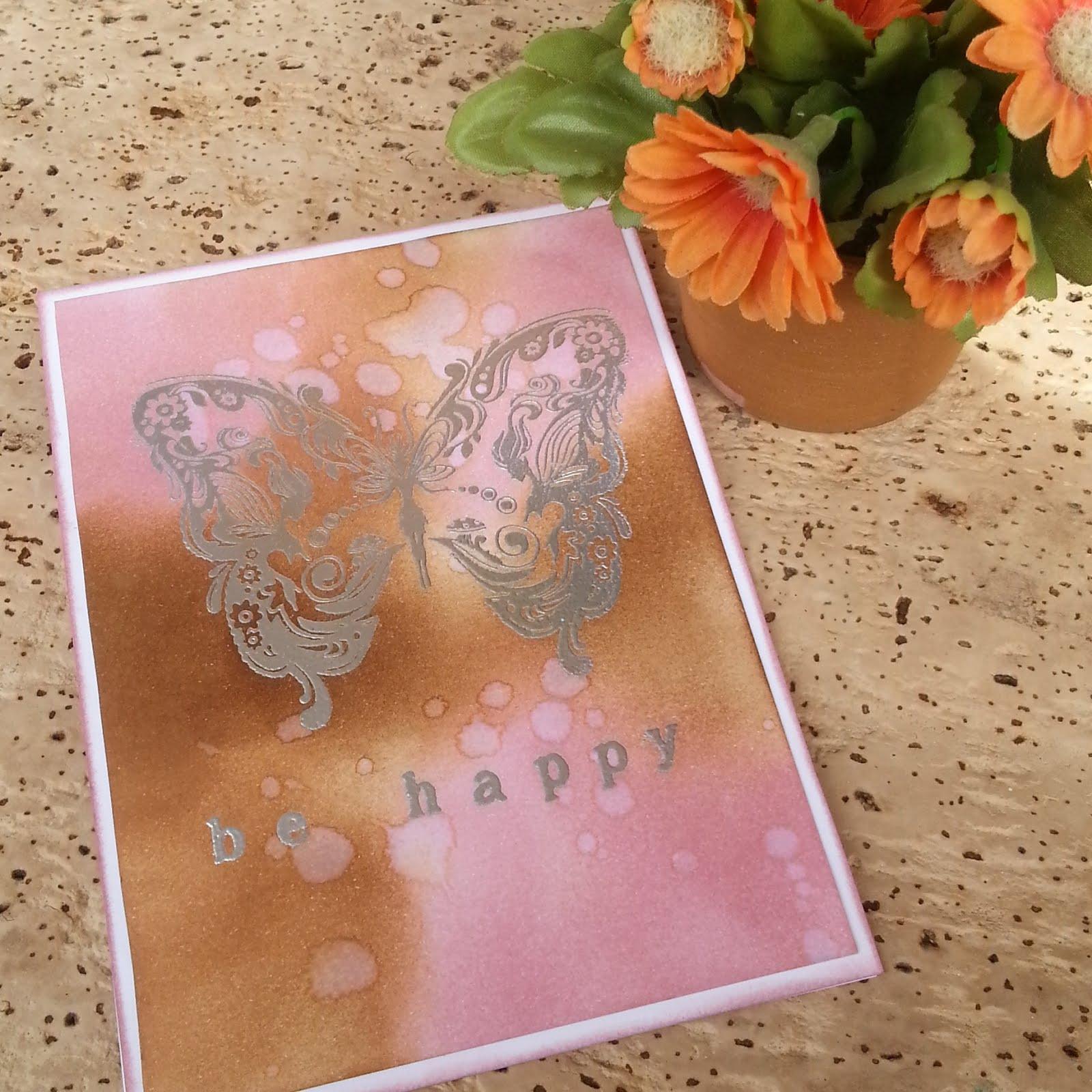 Tarjeta mariposa