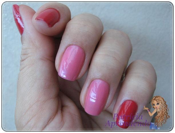 Vermelho e rosa combnados