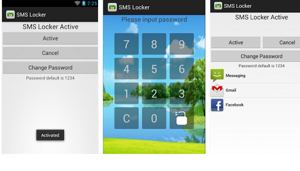 sms lock-message locker android app screen shots