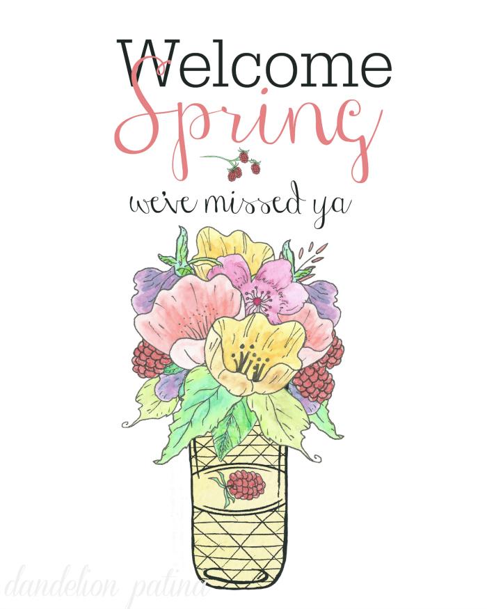 http://www.dandelionpatina.com/free-printable-welcome-spring/