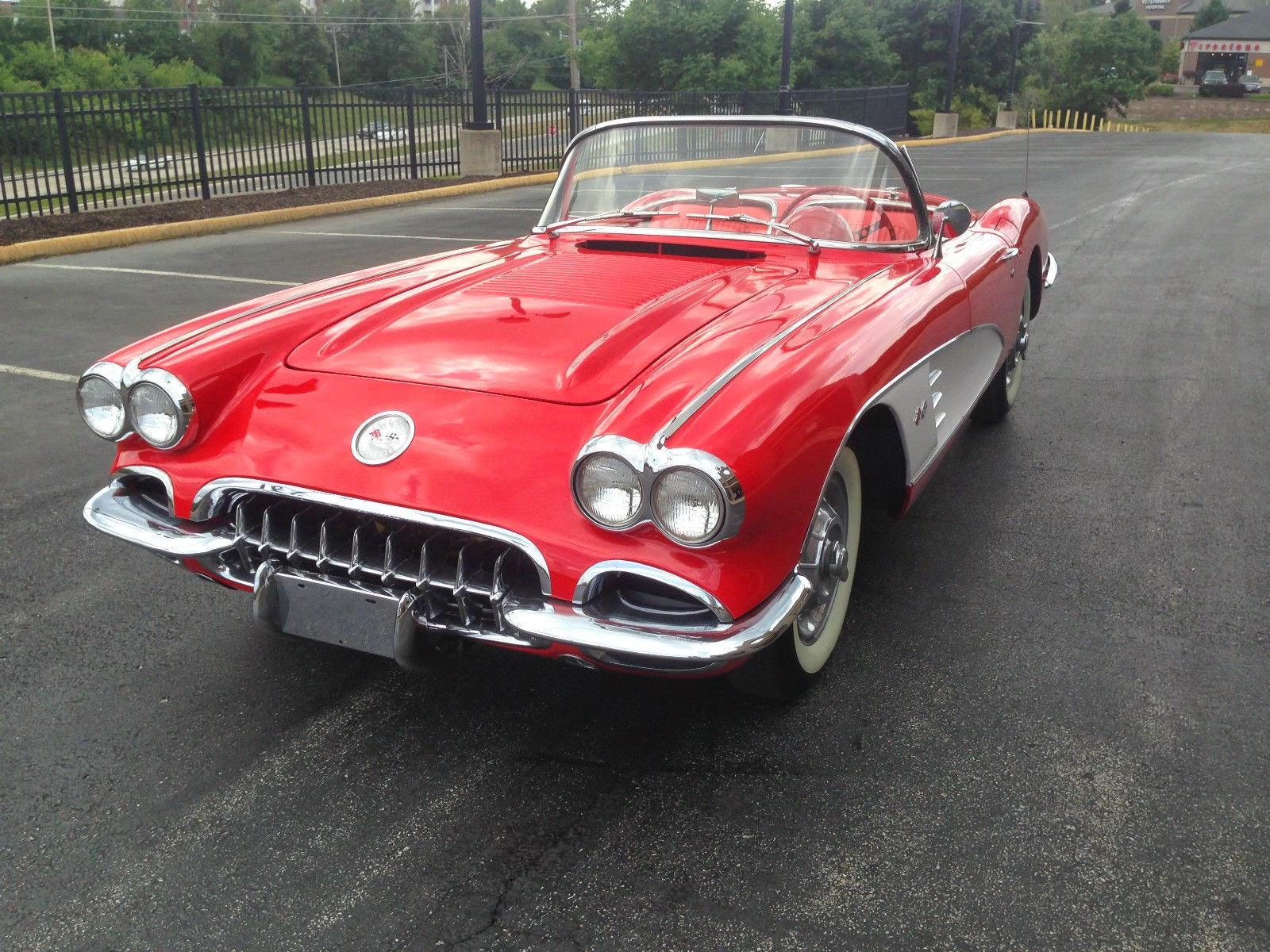 all american classic cars 1958 chevrolet corvette 2 door convertible. Black Bedroom Furniture Sets. Home Design Ideas
