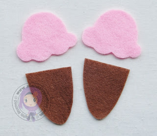 SUS n d FELT PRODUCT: CARA-CARA MEMBUAT FRIDGE MAGNET ICE CREAM