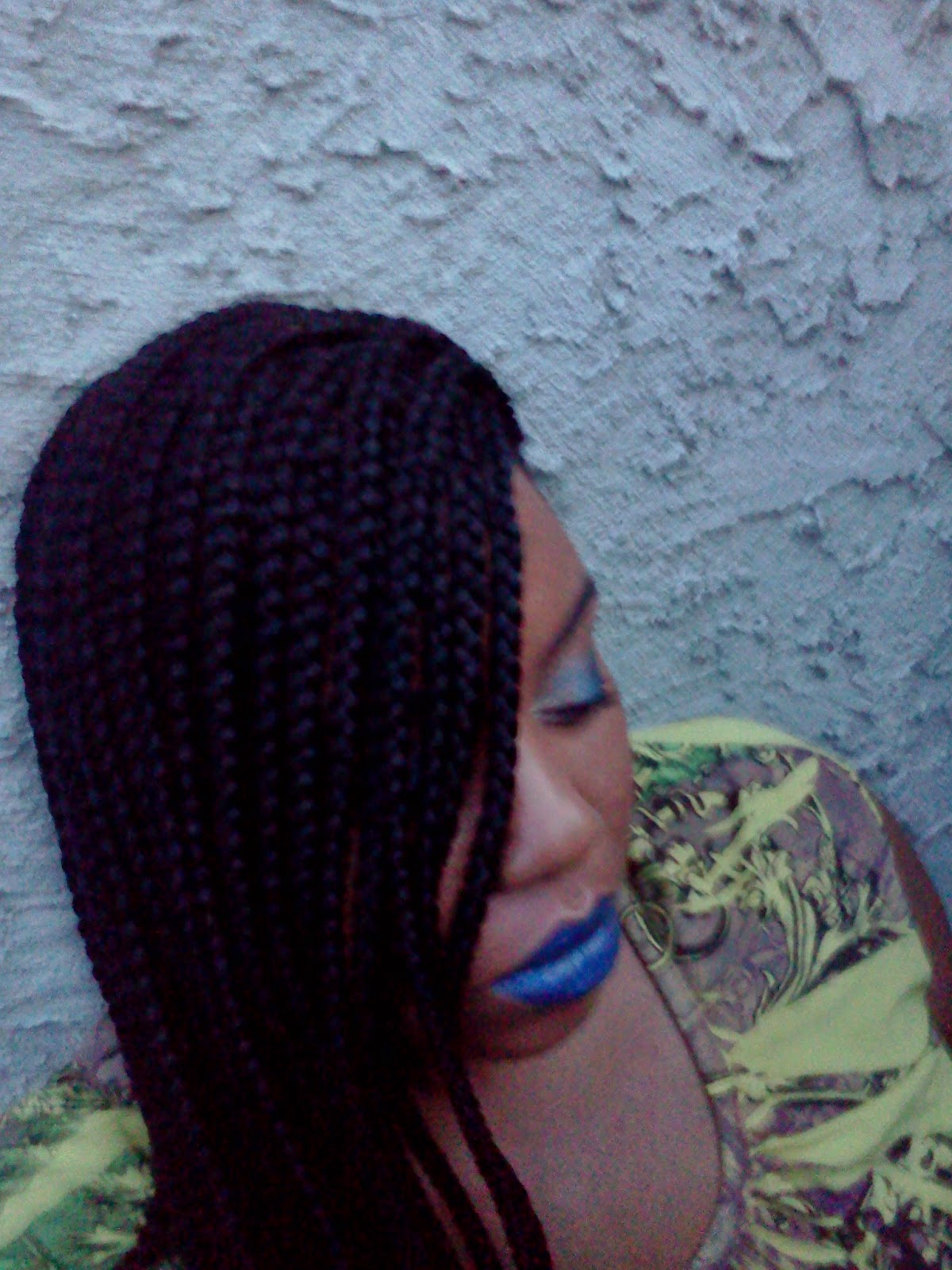 Ebony's All Natural: Box Braids & Blue Lips