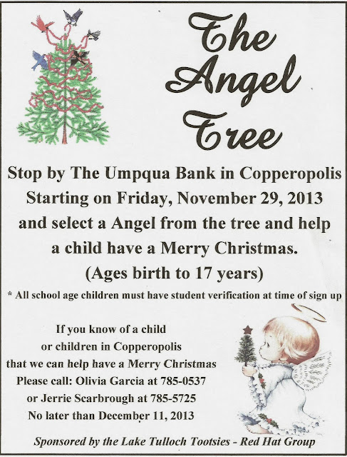 The Angel tree coming 11-29-13