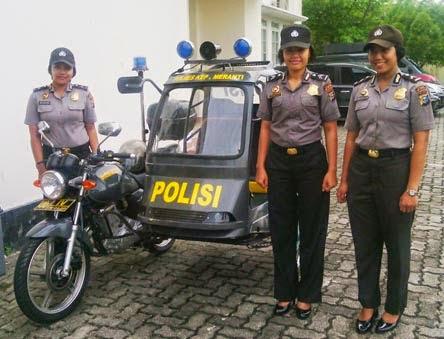 Becak Patroli Polisi Kepulauan Meranti Yang Unik