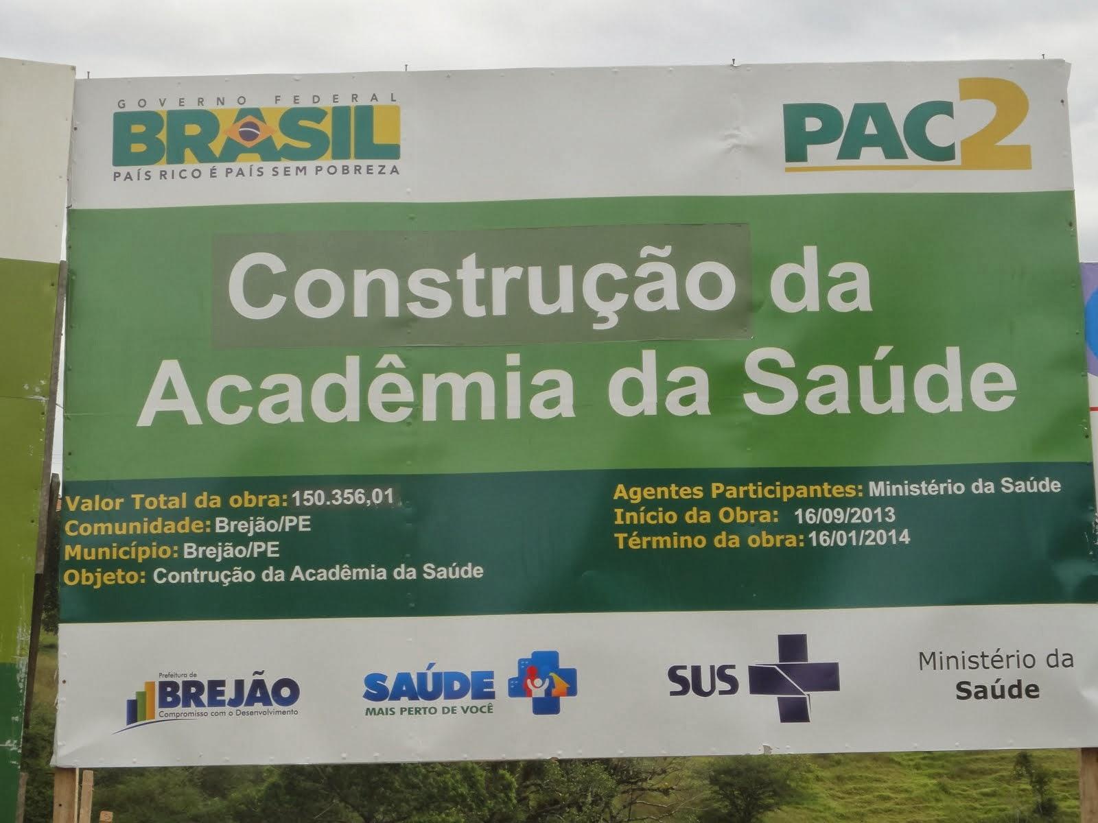 Construção da Academia da Saúde