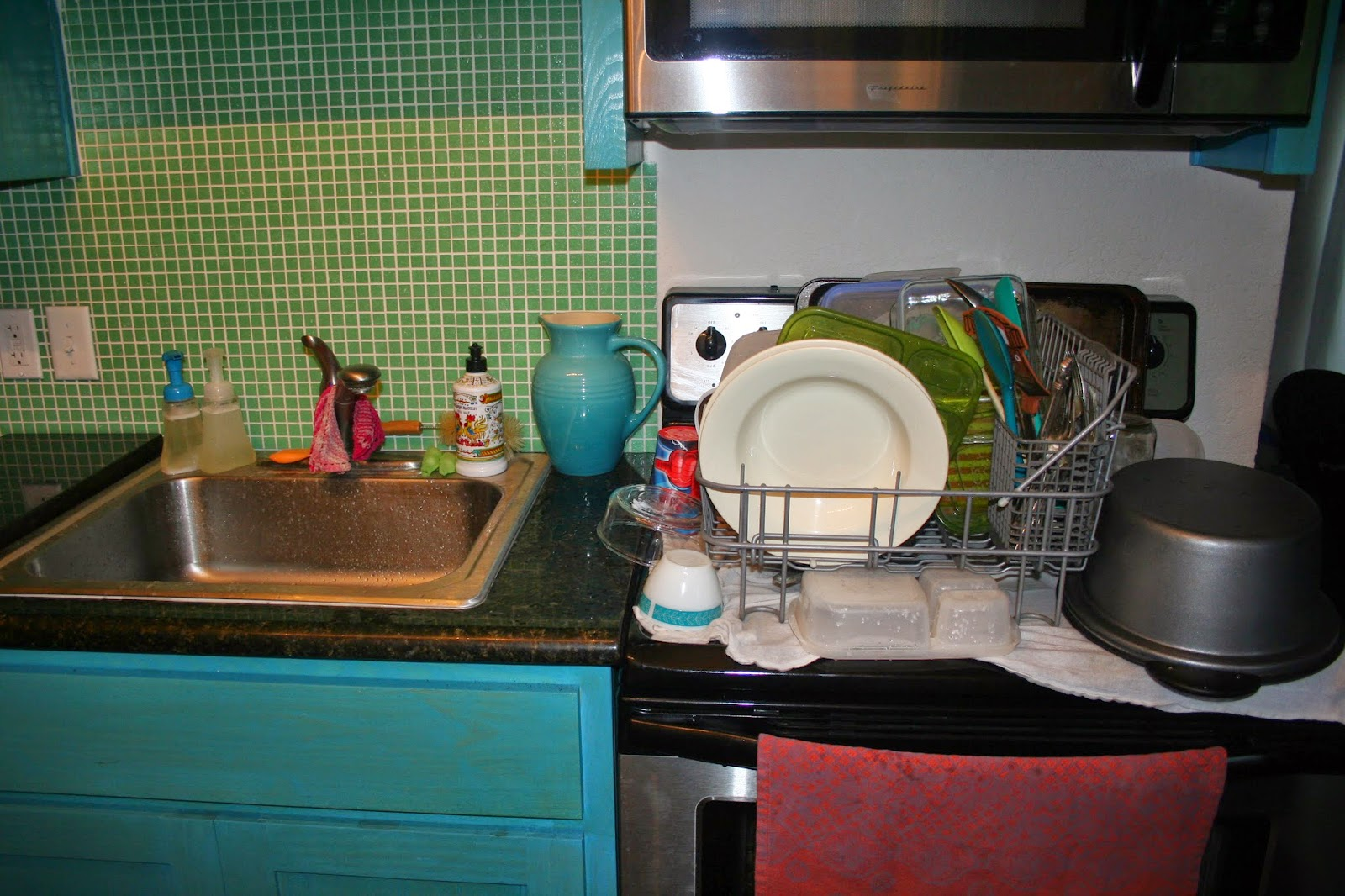 An empty sink and stack of clean dishes makes the world feel better!