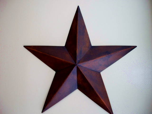 I like the way this star looks on the wall.
