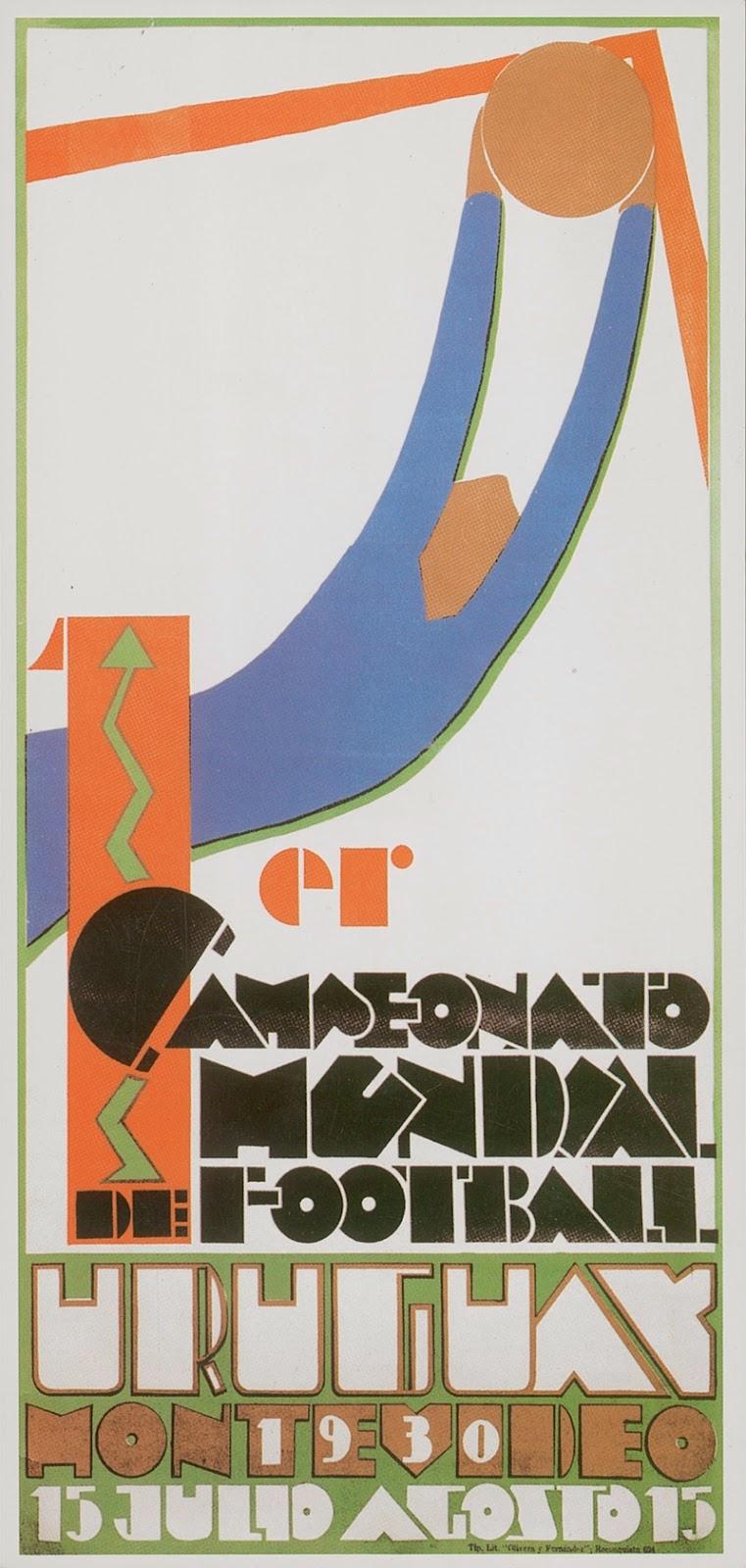Постеры Чемпионата мира по футболу 1930-1994 годов