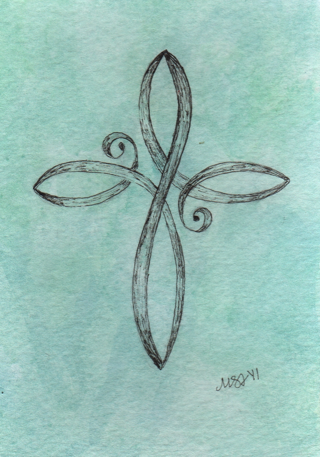 Embound cross tattoos for Little cross tattoo