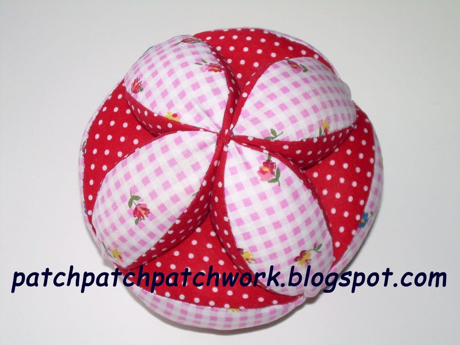 Patch patch patchwork tutorial pelota de tela de patchwork - Como hacer pachwork ...