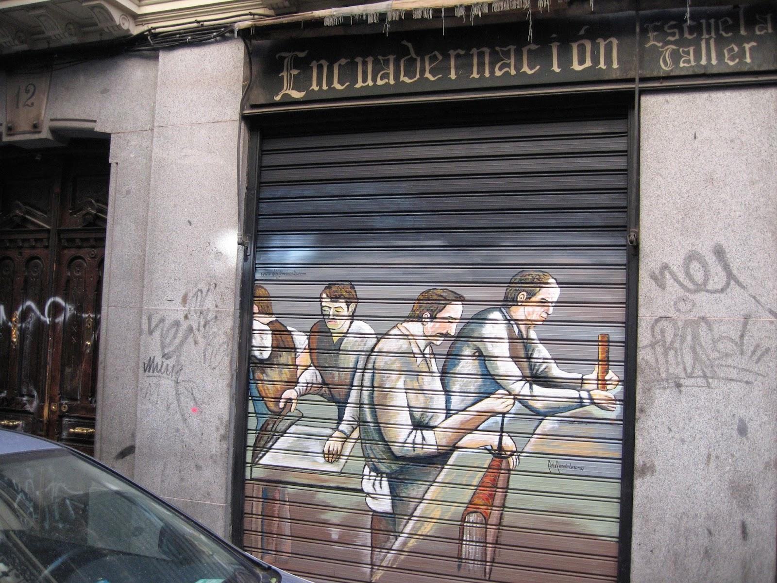 Pintura Mural Escuela de encuadernación