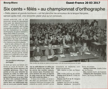 Ouest-France (20 03 2017)