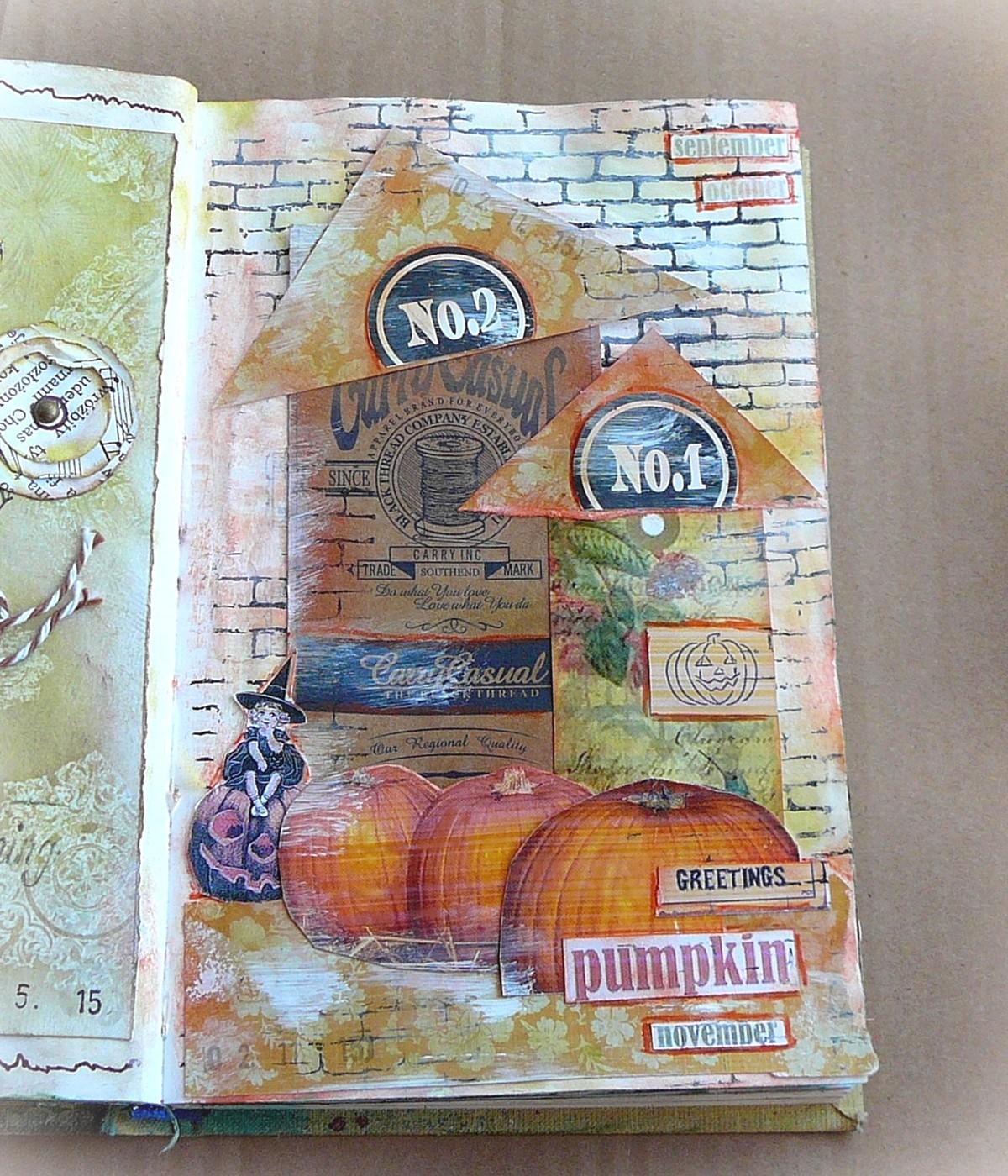 art journal domek czarownicy