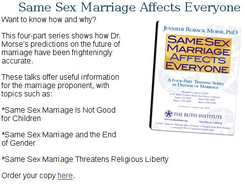 "how does same sex marriage affects How does gay 'marriage' hurt us here's how by eric metaxas which legalized same-sex ""marriage"" in 2005, in effect completely changing its true meaning."