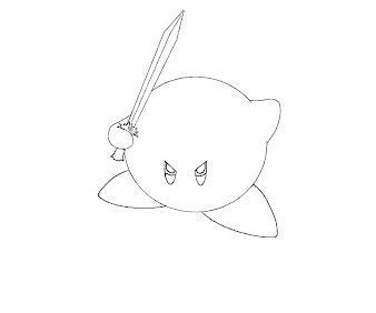 #15 Kirby Coloring Page