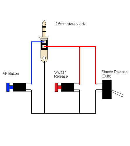 blog techobrien diy pentax wired remote example circuit diagram for remote shutter release