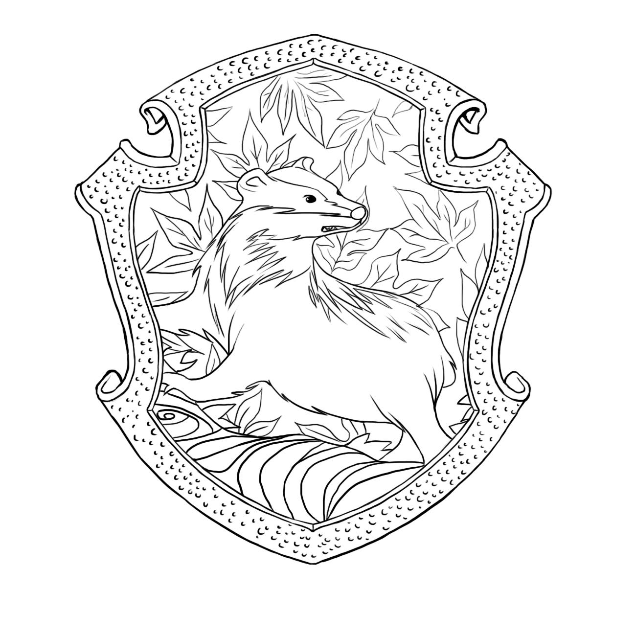 gryffindor crest coloring pages - photo#24