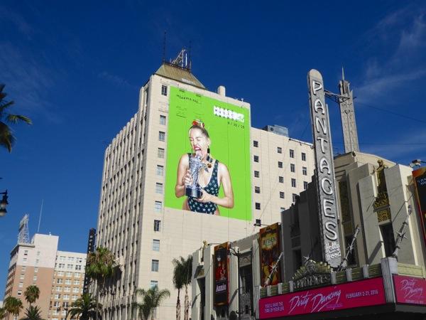 Giant Miley Cyrus MTV VMA billboard