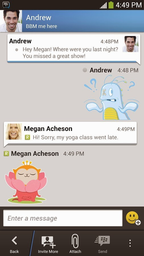 Aplikasi Android Blackberry Messenger (BBM) Versi Terbaru Asik - 1