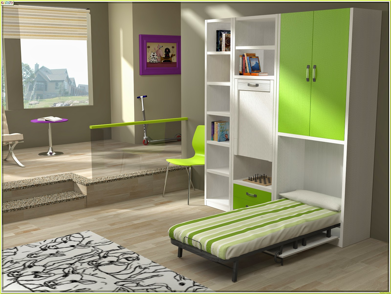 Muebles juveniles dormitorios infantiles y habitaciones juveniles en madrid camas abatibles - Camas muebles plegables ...