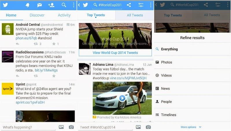 Aplikasi twitter untuk android