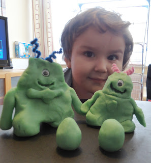 Cubbykit Playdough Alien family