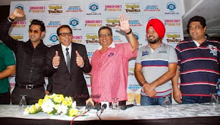 Double di Trouble | Gippy Grewal, Dharmendra, Subhash Ghai, Gurpreet Ghuggi, Smeep Kang, During the press conference.