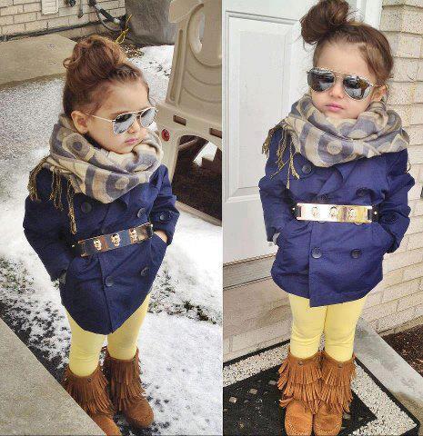 Adorable stylish little girl dress