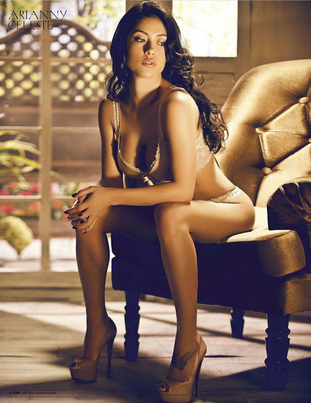 Arianny Celeste sexy in a chair