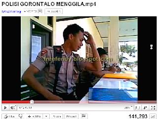 Video Polisi Brimob Gorontalo Menggila
