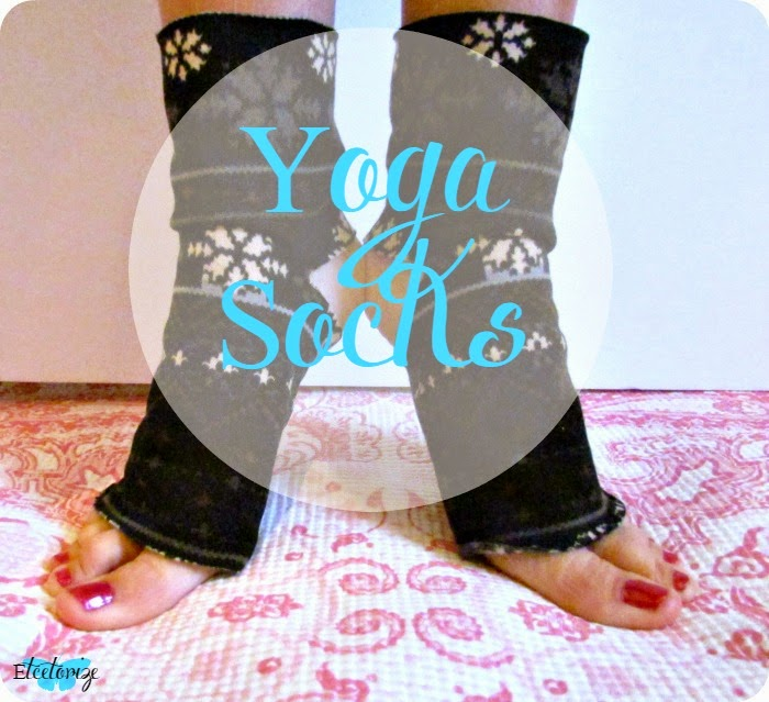 Sewing, DIY, Make your own Yoga Socks, fleece socks